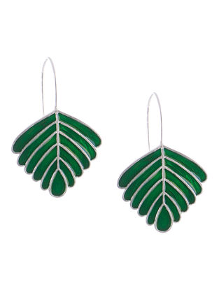 Meenakari Silver Nadra Earrings