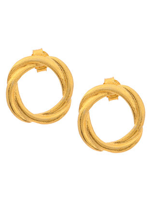 Classic Gold Tone Silver Earrings