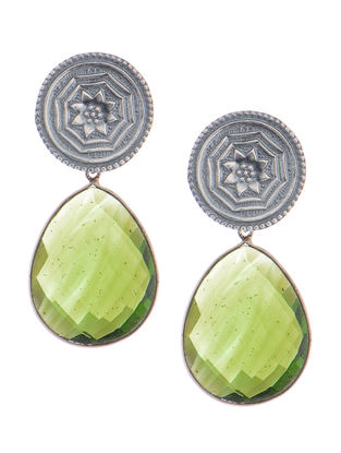 Peridot Hydro Silver Earrings