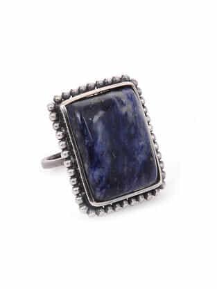 Lapis Lazuli Silver Adjustable Ring