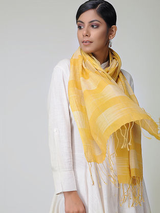 Yellow Handloom Cotton Stole