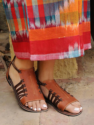 Brown Handcrafted Leather Sandals