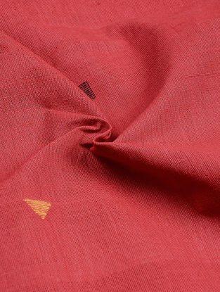 Red-Yellow Jamdani Khadi Cotton Fabric