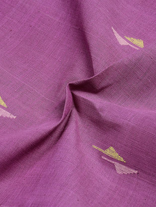 Pink-Yellow Jamdani Khadi Cotton Fabric