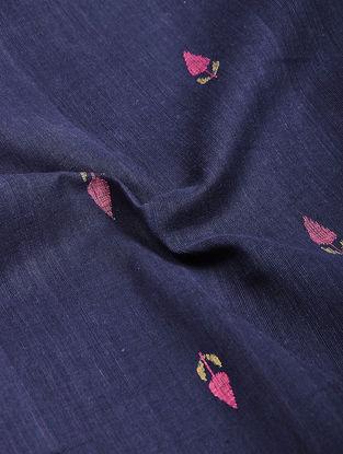 Blue-Pink Jamdani Cotton Fabric