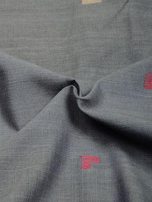 Grey-Pink Jamdani Cotton Fabric