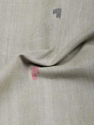 Grey-Black Jamdani Cotton Fabric
