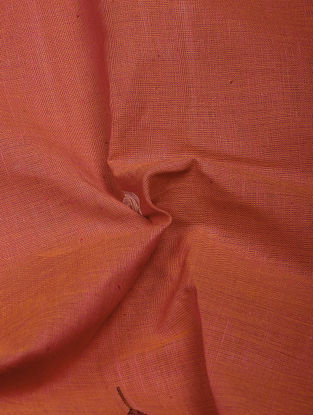 Red-Ivory Jamdani Khadi Cotton Fabric