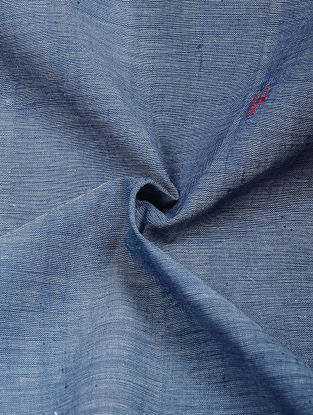 Blue-Red Jamdani Khadi Cotton Fabric