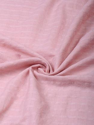 Pink Handloom Cotton Fabric