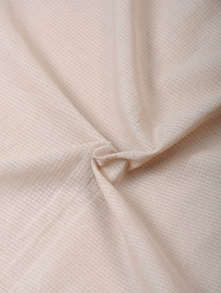 Beige Handloom Cotton Fabric