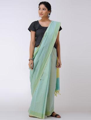 Green-Yellow Cotton Saree