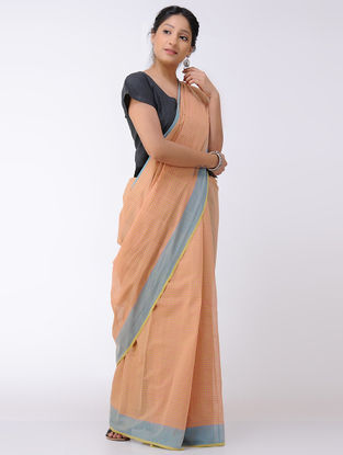 Pink-Yellow Cotton Saree