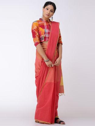 Red-Orange Cotton Saree
