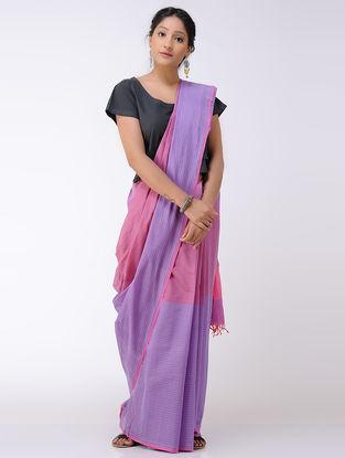 Purple-Pink Cotton Saree
