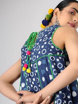 Indigo Block-printed Cotton Kali Dress
