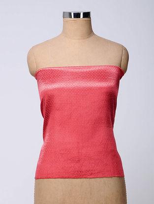 Pink Rabari-embroidered Mashru Blouse Fabric