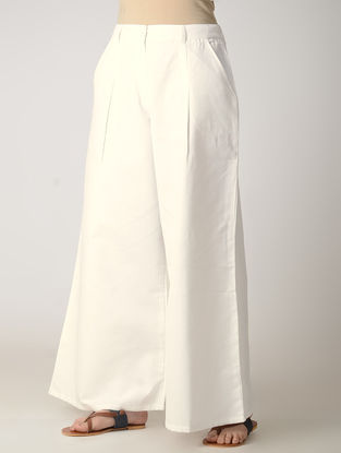 White Cotton Palazzos