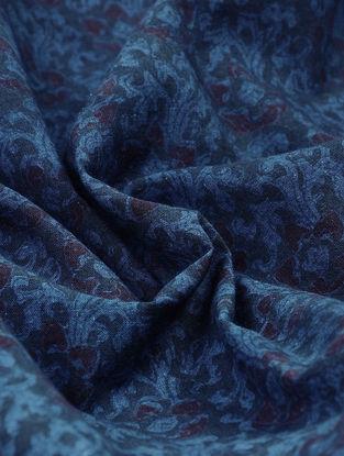 Indigo Natural-dyed Block-printed Cotton Fabric