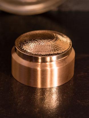 Jaipuri Handcrafted Copper Prasadam Degchi (L:5.9in, W:4.3in, H:7.5in)