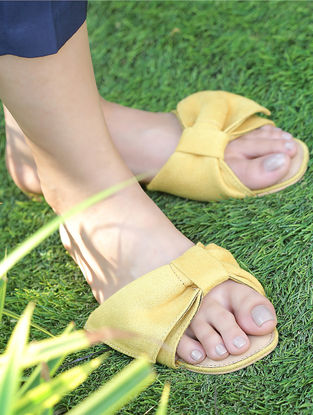 Yellow Suede Flats