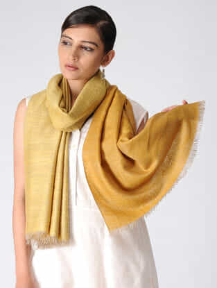 Yellow Reversible Pashmina Stole