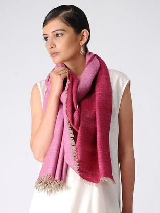 Pink Reversible Pashmina Stole