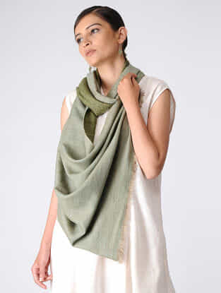 Green Reversible Pashmina Stole