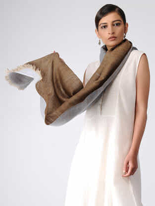 Brown-Grey Reversible Pashmina Stole