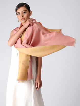 Pink-Yellow Reversible Pashmina Stole