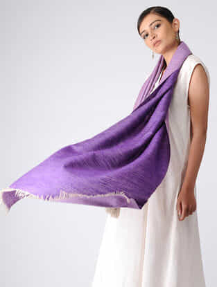 Purple Reversible Pashmina Stole