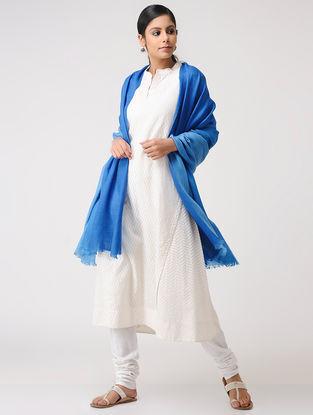 Blue Ombre-dyed Pashmina Shawl