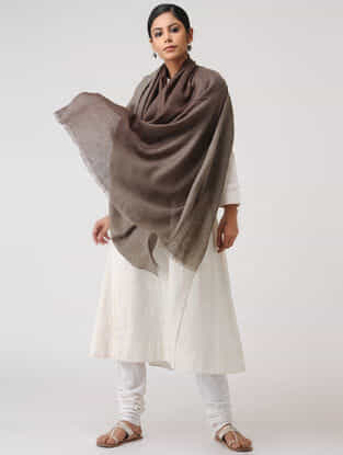 Brown Ombre-dyed Pashmina Shawl