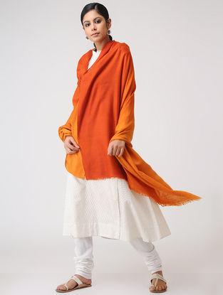 Orange Ombre-dyed Pashmina Shawl