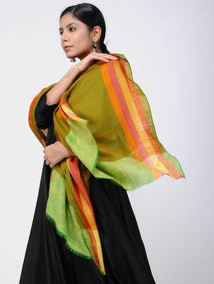 Green-Orange Pashmina Stole