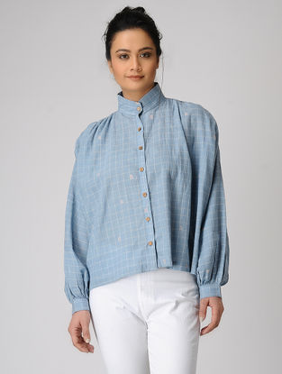Blue Checkered Jamdani Shirt
