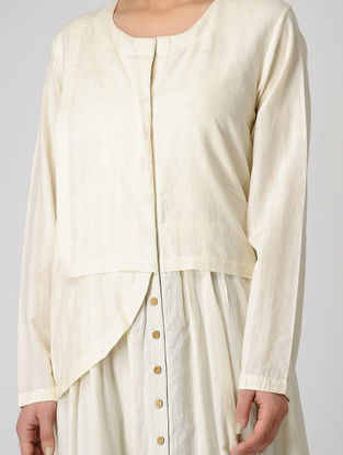 Ivory Layered Handloom Muslin Dress