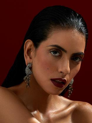 Confluence Crystals from Swarovski Rohit Bal Guldastah Peacock Earrings