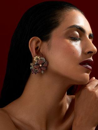Confluence Crystals from Swarovski Rohit Bal Guldastah Garden Stud Earrings