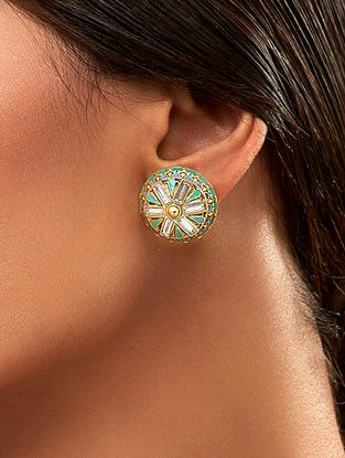 Confluence Crystals from Swarovski Amrapali Baroque Stud Earrings