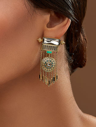 Confluence Crystals from Swarovski Amrapali Baroque Shield Earrings