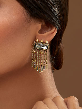 Confluence Crystals from Swarovski Amrapali Baroque Prestine Earrings