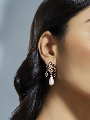 Confluence Crystals from Swarovski Suneet Varma Bloom Pink Earrings