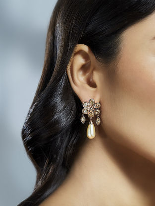 Confluence Crystals from Swarovski Suneet Varma Bloom Golden Earrings