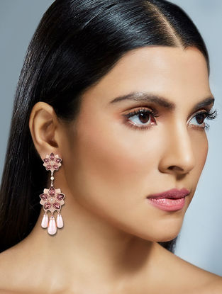 Confluence Crystals from Swarovski Suneet Varma Pink Floret Earrings