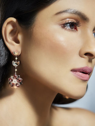 Confluence Crystals from Swarovski Suneet Varma Shining Star Golden Earrings