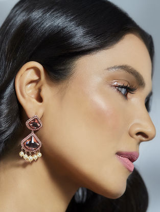 Confluence Crystals from Swarovski Suneet Varma Celestial Pink Earrings