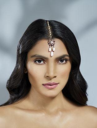 Confluence Crystals from Swarovski Suneet Varma Pink Floret Maang Tikka