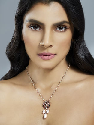 Confluence Crystals from Swarovski Suneet Varma Pink Floret Necklace