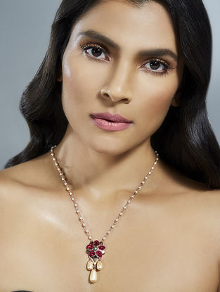 Confluence Crystals from Swarovski Suneet Varma Red Floret Necklace